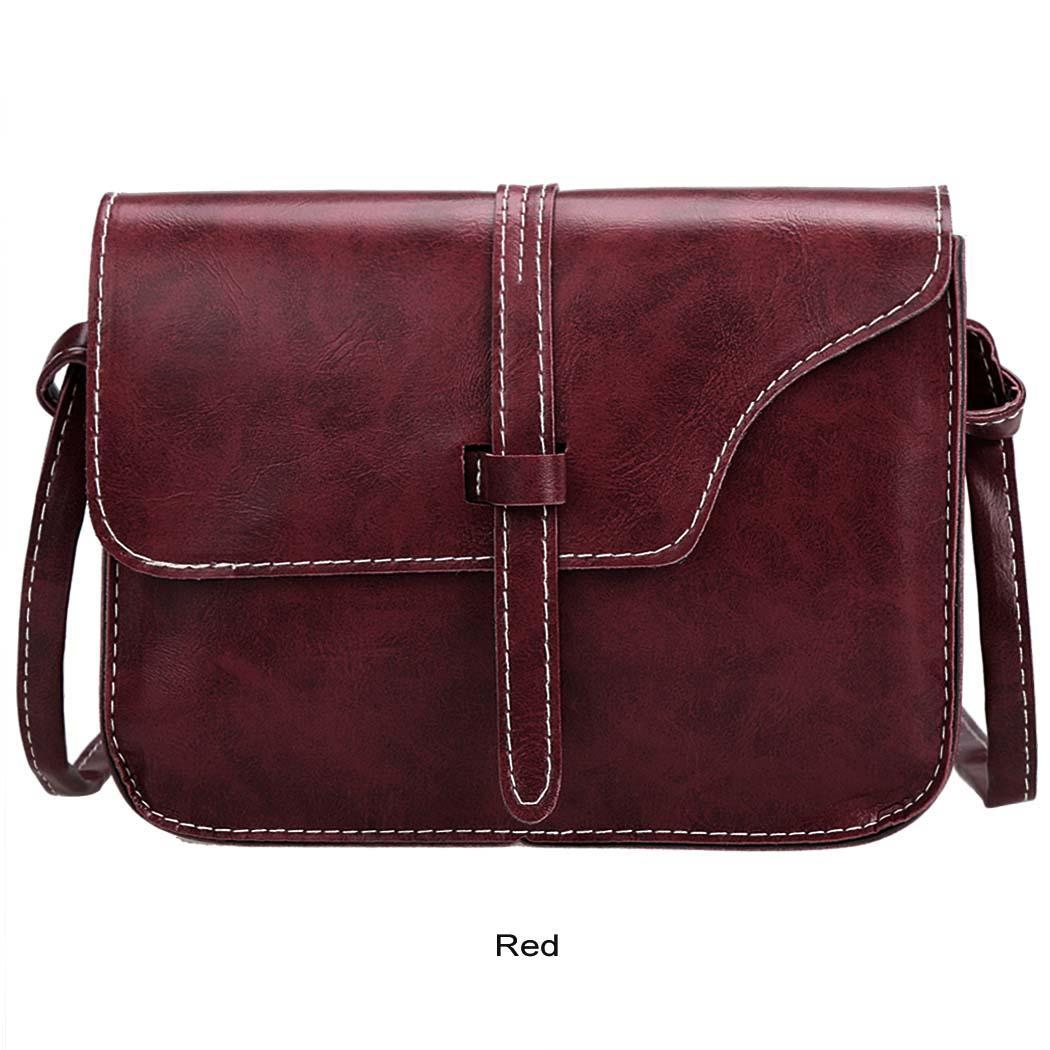 Women Retro Synthetic Leather Mini Solid Handbag Cross Body Shoulder Bags 5