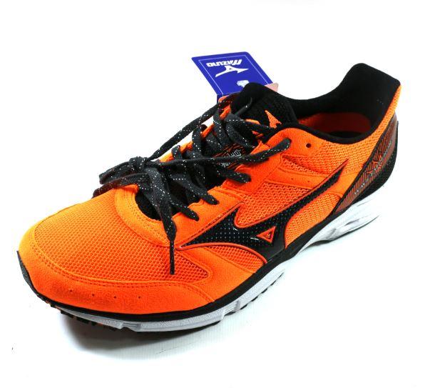 MIZUNO 美津濃 WAVE EMPEROR 2 皇速!(男) 輕量路跑鞋 - J1GA177609 橘黑