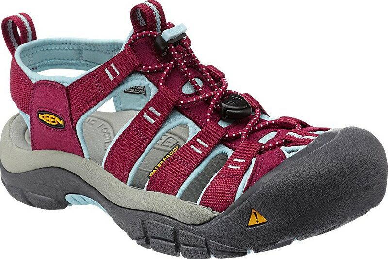 [ KEEN ] 涼鞋/運動涼鞋/護趾涼鞋/拖鞋 Newport H2 女 1012867 酒紅粉藍/台北山水