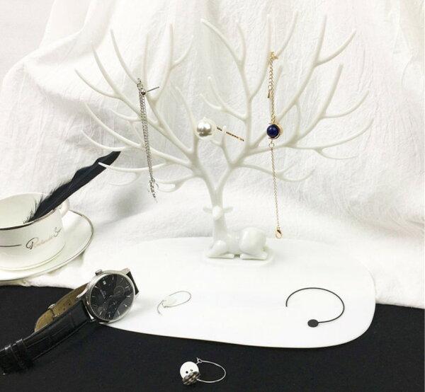 創意鹿角首飾架飾品架北歐展示架歐式耳環戒指項鍊手鐲收納架