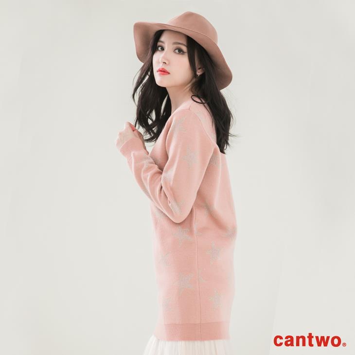 cantwo星星銀蔥混織針織上衣(共二色) 2