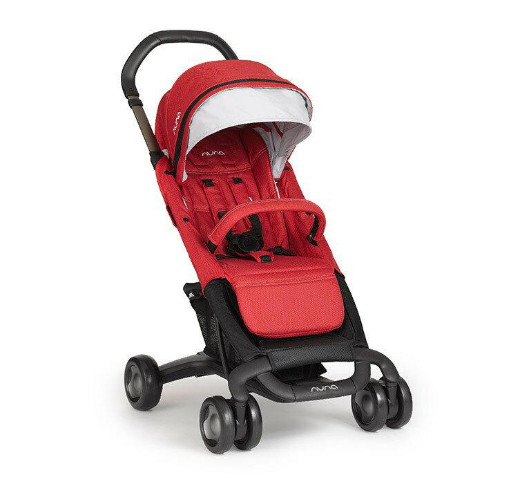 【Nuna】Pepp Luxx 時尚手推車(紅色) ※加贈Nuna時尚手提袋+可愛玩偶x1 【飛炫寶寶】