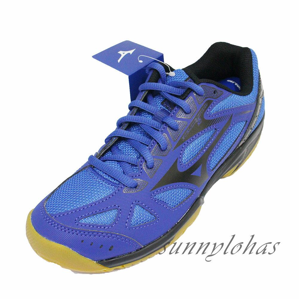 贈襪MIZUNO美津濃 (男女) CYCLONE SPEED 2 排球鞋 羽球鞋 避震-V1GA198009寶藍 [陽光樂活](A5)