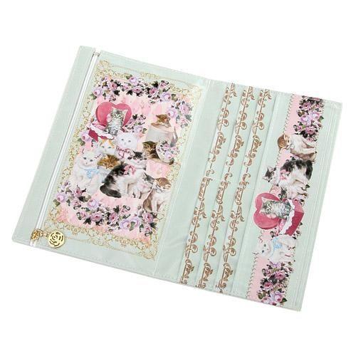 日本製貴族貓咪錢包皮夾防水tiffany藍984034