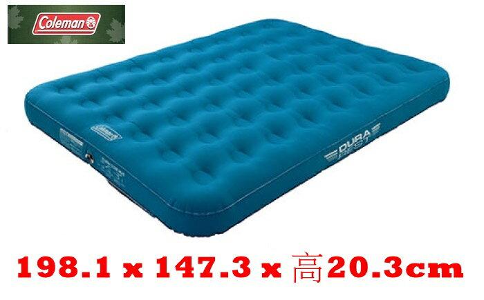 【速捷戶外】美國Coleman CM-31957輕量耐用氣墊床DOUBLE充氣床.充氣睡墊.露營睡墊,雙段空氣閥(原CM-21934)
