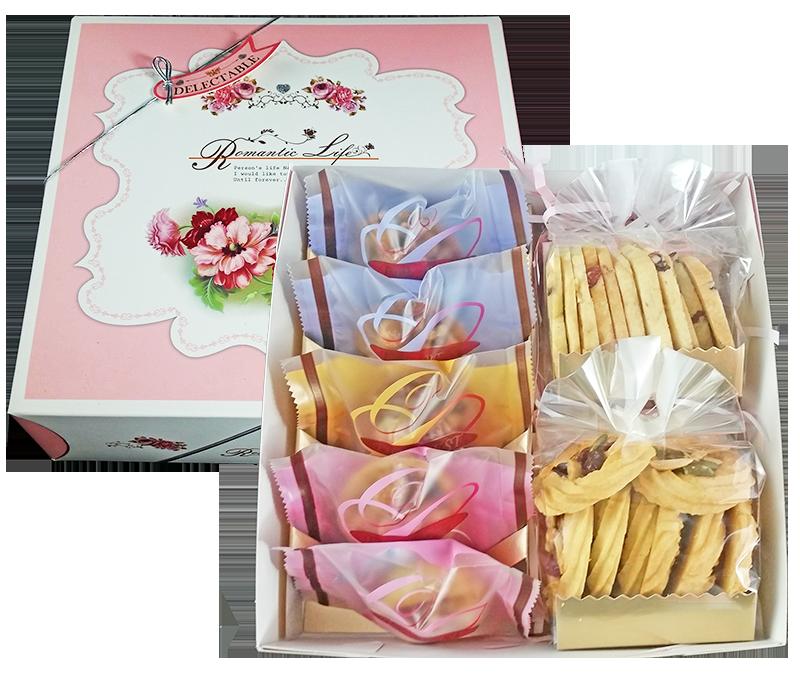 【客來嗑Clike】雙拼禮盒 ▲ 夏威夷豆塔 X 5入 + 手工餅乾 X 2入