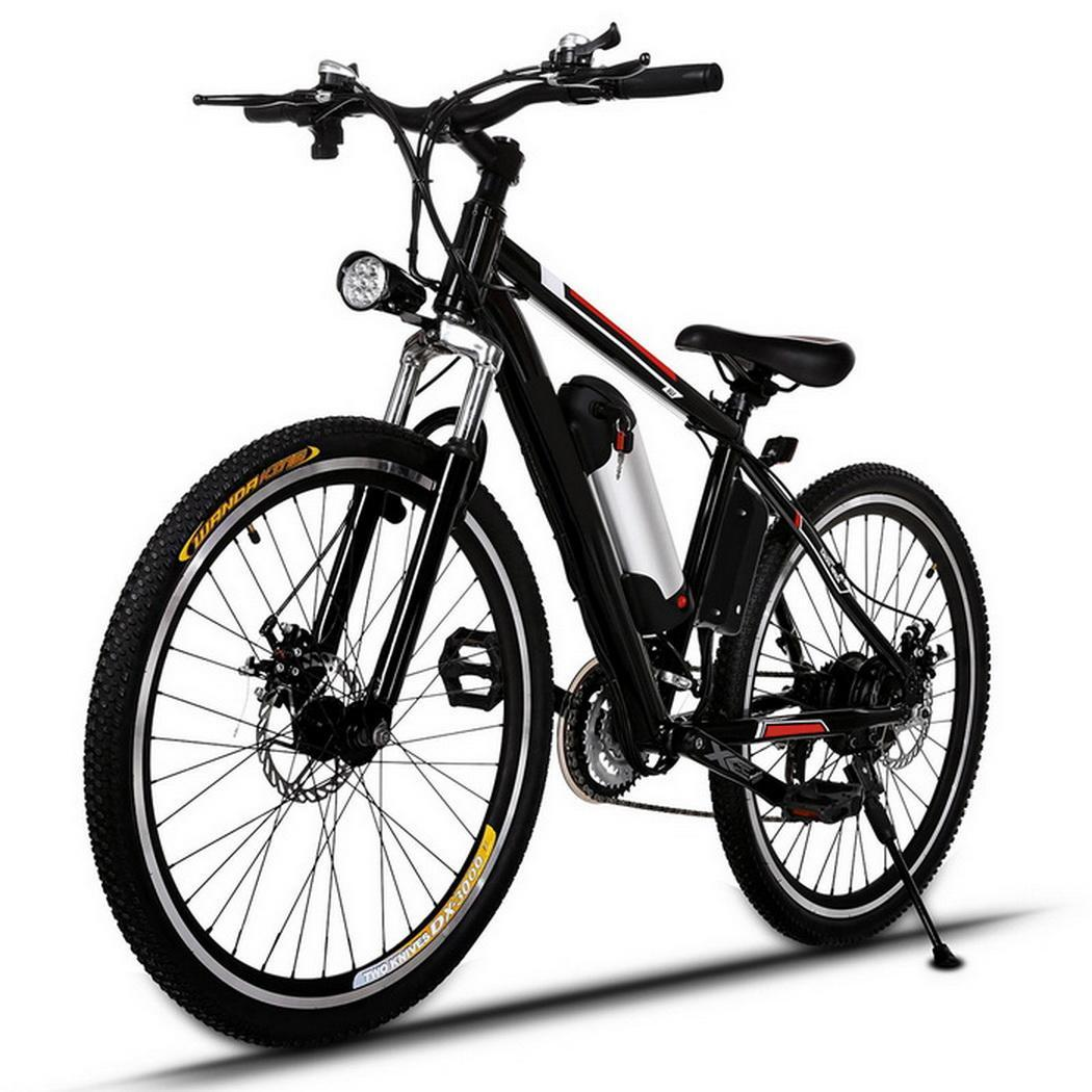 25 inch Wheel Aluminum Alloy Frame Mountain Bike Cycling Bicycle Black 0