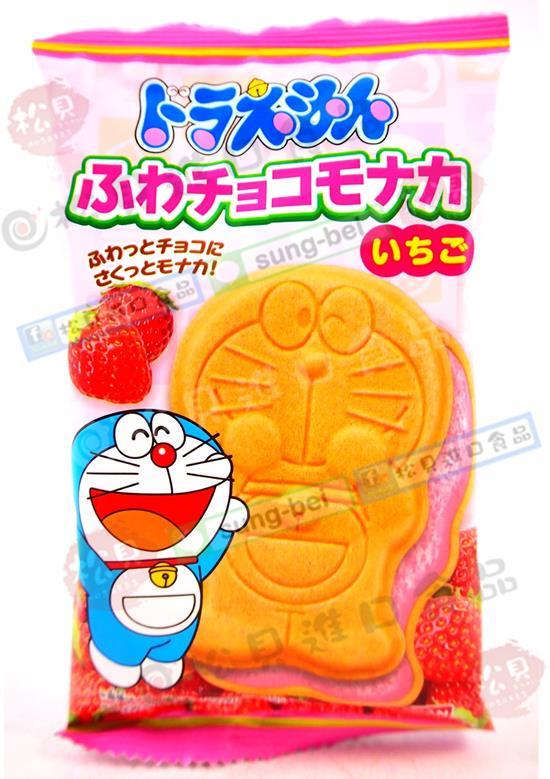 東鳩多啦A夢最中餅(草莓)17g【4549660057130】
