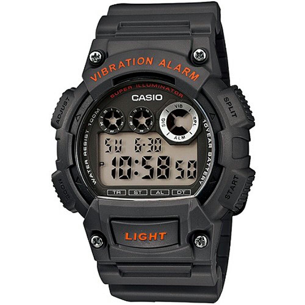CASIO 卡西歐 W-735H 沉穩色系震動鬧鈴功能防水電子錶 2