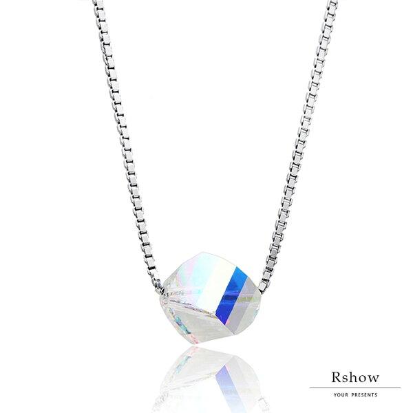 【RSHOW瑞秀】不規則立體感幾何結晶項鍊★S925純銀飾品