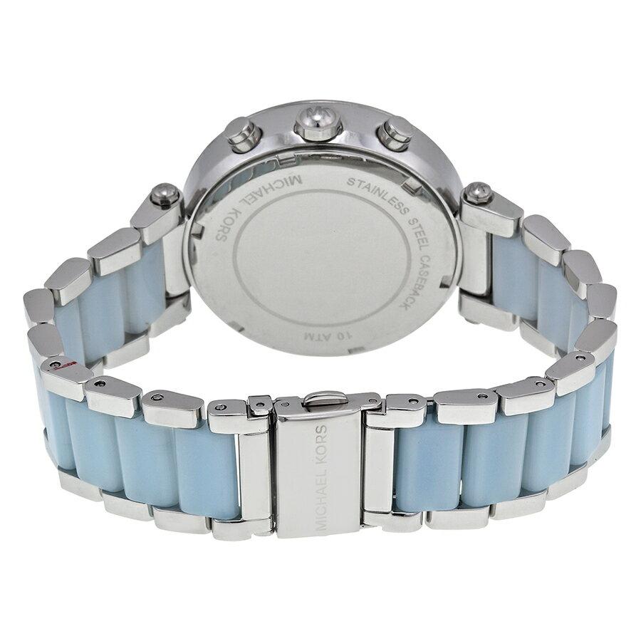 美國Outlet 正品代購 Michael Kors MK 三環 淺藍精鋼 滿鑽 手錶 腕錶 MK6138 4