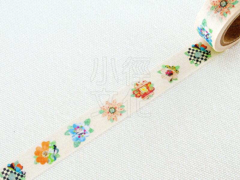 *小徑文化*日本進口 JUNO 原創和紙膠帶 - collage flower ( JN-MT-032 )