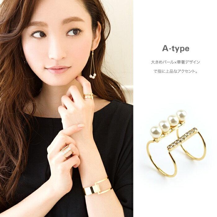 日本CREAM DOT  /  個性鋯石珍珠戒指-a00481-日本必買 日本樂天直送(1078) /  件件含運 5