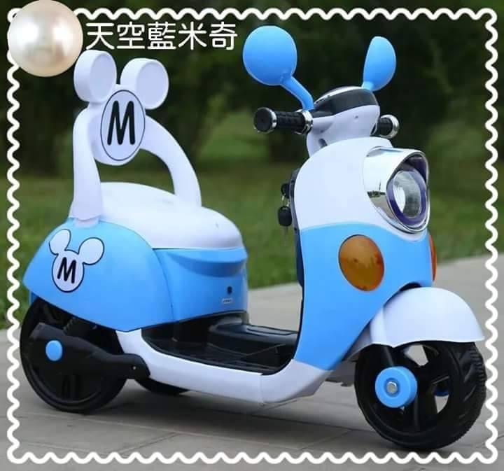 米奇靠背電動車 / 機車  藍色款
