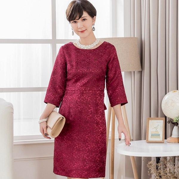 灰姑娘[88178-S]高雅緹花蕾絲仿和服式腰帶小禮服洋裝宴會穿搭