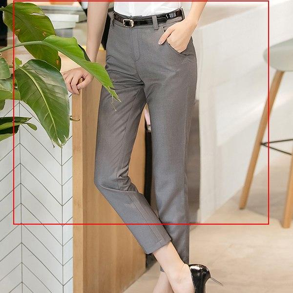 灰姑娘[8S119-PF]單色窄管西裝料OL九分褲~上班面試~2色