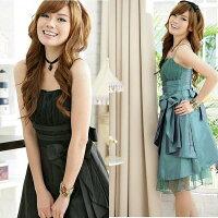 灰姑娘美麗佳人網紗層疊氣質小禮服洋裝