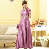 時尚洋裝 小禮服推薦到灰姑娘[9901-JK] 高雅名伶~ 綢緞質感亮片圍腰長禮服