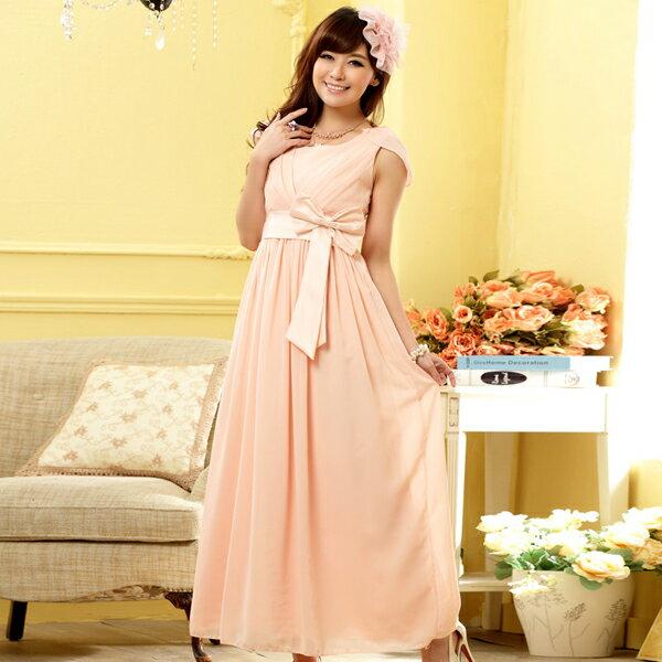 灰姑娘[9902-JK] Lady's Party 設計感皺摺圍胸高雅垂墜長禮服