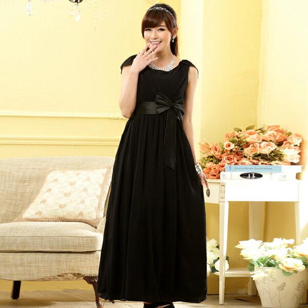 灰姑娘[9902-JK] 中大尺碼*Lady's Party 設計感皺摺圍胸高雅垂墜長禮服
