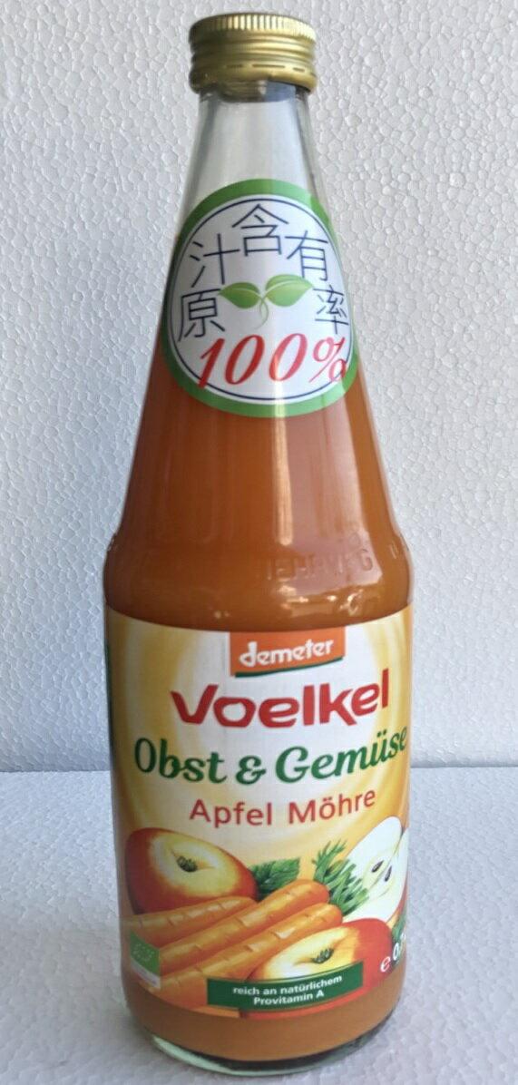 Voelke維可 有機蘋果胡蘿蔔汁 700ml/瓶