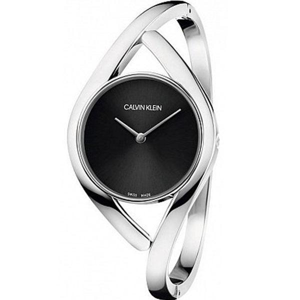 Calvinklein卡文克萊優雅感官系列(K8U2M111)派對時尚S型腕錶黑28mm