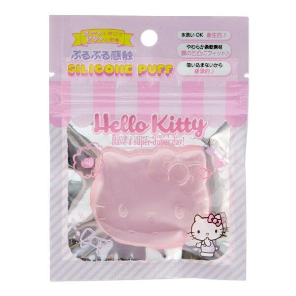X射線【C021071】HelloKitty矽膠粉撲,刷具粉撲彩妝工具粉底刷美妝