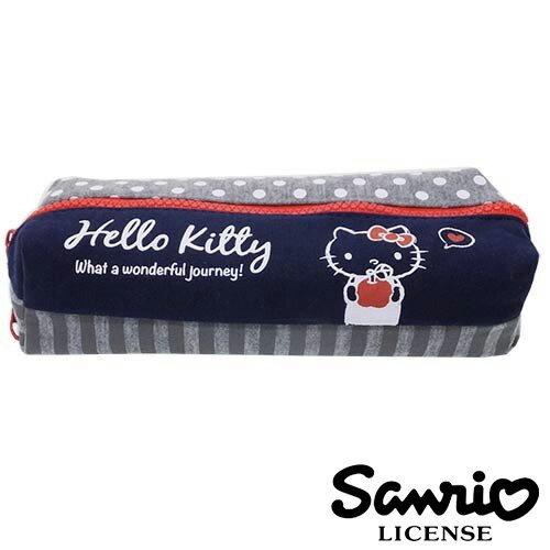 藏青款【 】凱蒂貓 HelloKitty 雙層 筆袋 鉛筆盒 三麗鷗 Sanrio - 424756