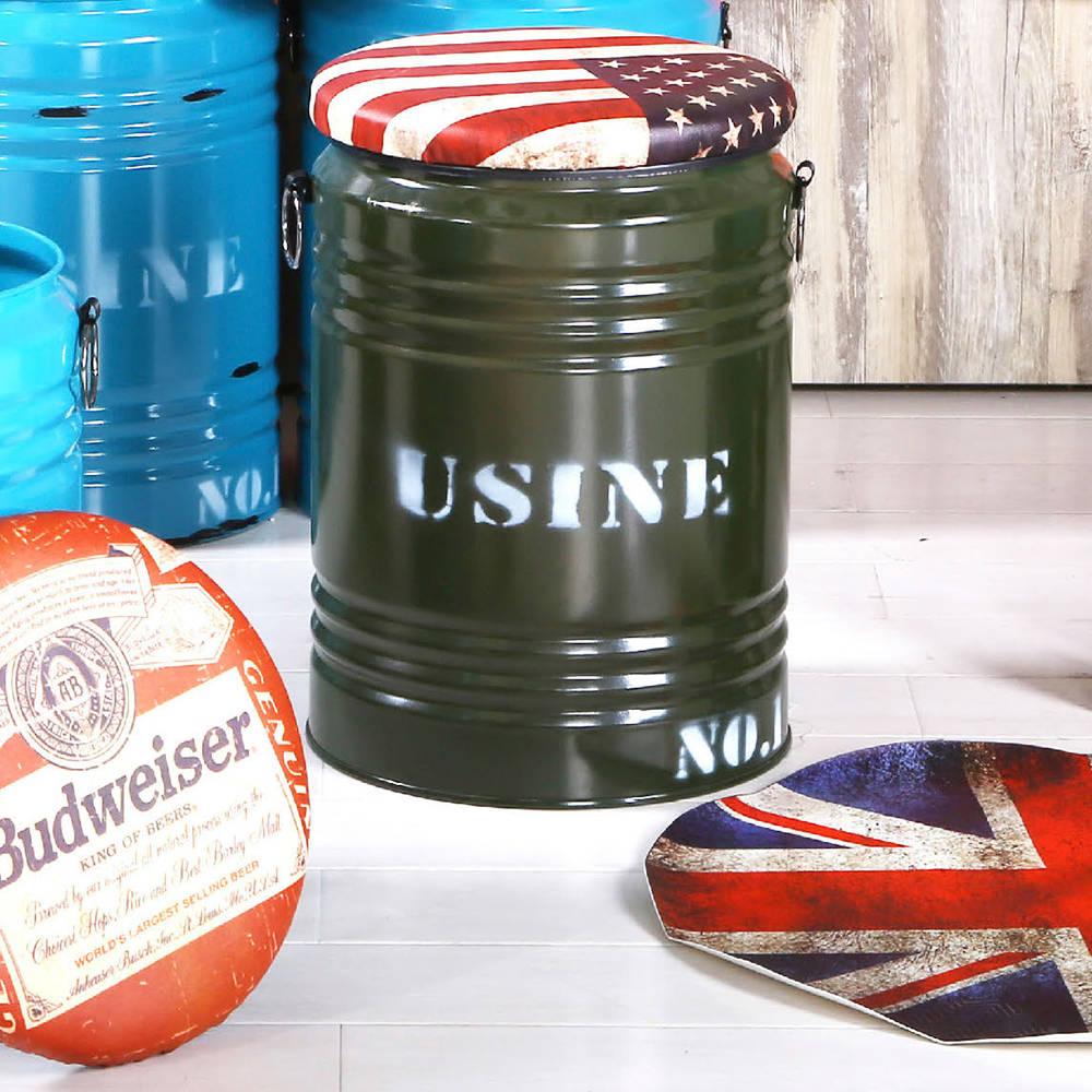 美國綠水桶收納椅凳/H&D東稻家居-消費滿3千送點數10%