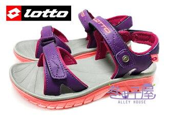 【巷子屋】義大利第一品牌-LOTTO樂得 女童跳色超輕量運動涼鞋 單足140g [2407] 紫 超直價$398