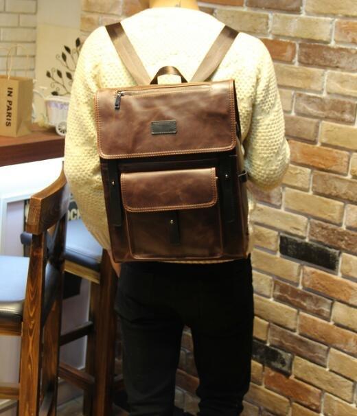 <br/><br/> FINDSENSE Z1 韓國 時尚 潮 男 皮質 多口袋 休閒 學生包 旅行包 電腦包 書包 後背包 雙肩包<br/><br/>