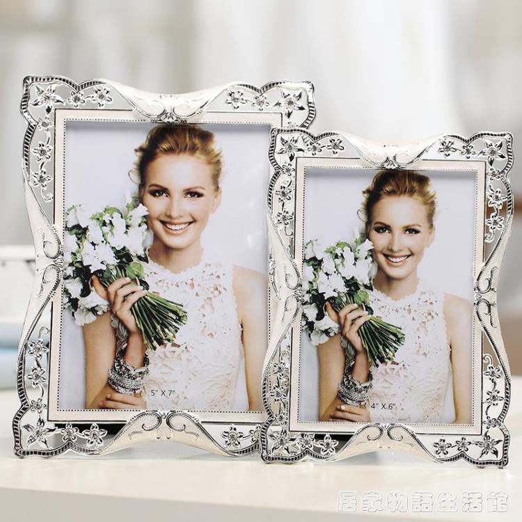 復古奢華歐式婚紗照相框擺台6寸7寸 照片框像框相架七寸8創意禮物 樂樂百貨