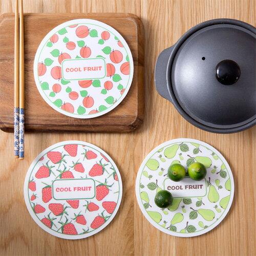 創意水果加厚木塑板隔熱墊廚房餐墊防滑墊杯墊防燙鍋墊