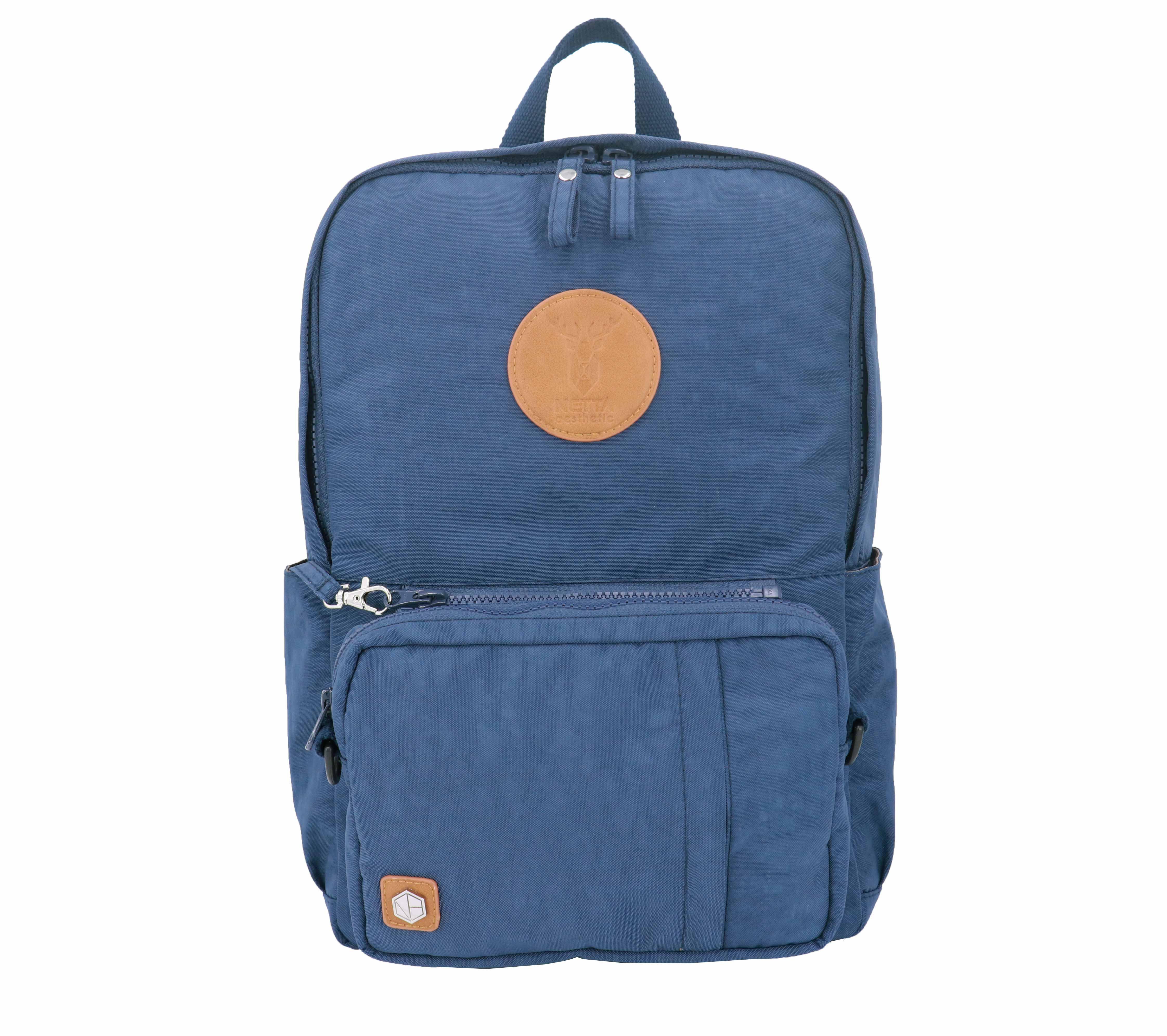防潑水多功能後背包 / 深藍 / 尺寸M號 / 電腦包可拆卸【NETTA】 0