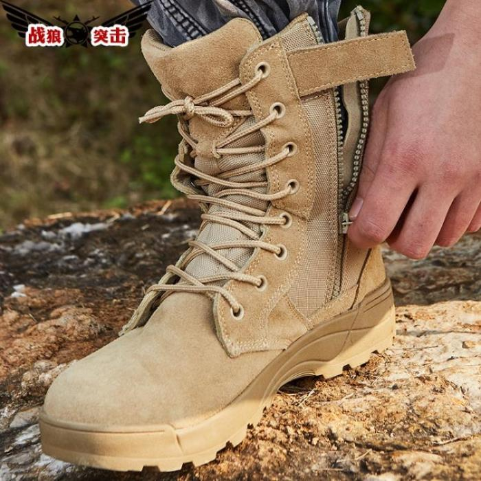 戰狼突擊高幫登山鞋徒步鞋作戰靴男戶外戰術靴透氣沙漠靴軍靴