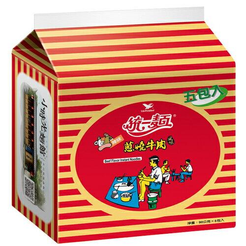 統一麵 蔥燒牛肉風味 90g (5入)/袋