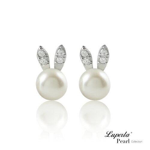 大東山珠寶童話彼得兔純銀晶鑽珍珠耳環