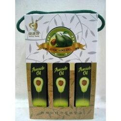 3瓶特價 紐西蘭純淨特級初榨冷壓酪梨油禮盒組(原味.萊姆.大蒜) 250ml/瓶 可混搭請備註