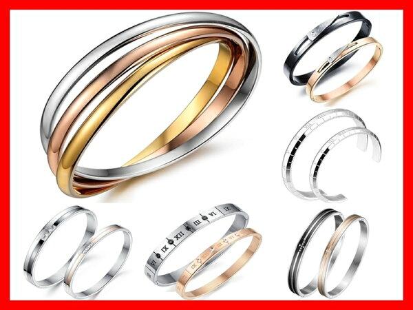 《316小舖》今天特價248元【11款鈦鋼手環鈦鋼對環玫金手環情人手環情侶對環情侶手環生日禮物白鋼手環】