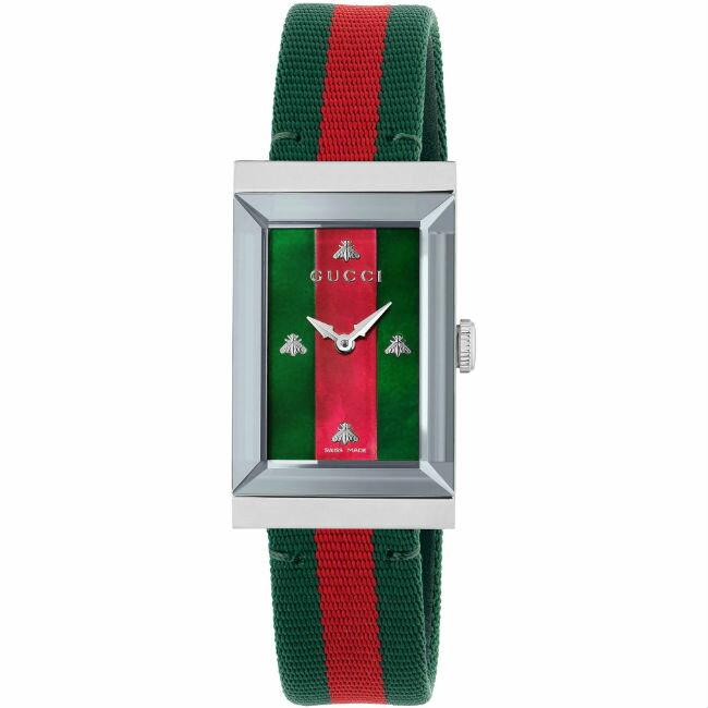 Gucci 古吉 YA147404  G-Frame 雙色氣質腕表/21*34mm