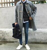 男生面試服裝穿著西裝推薦到【JP.美日韓】 韓國 長版大衣 牛角扣 大衣 毛尼 呢料大衣 西裝 長板 ZNIF GD SLP KOREA就在FINDSENSE服飾推薦男生面試服裝穿著西裝