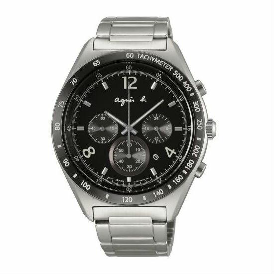 agnesb7T12-0AP0D(BW8001P1)法式時尚風計時腕錶黑面42mm