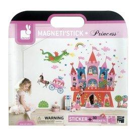~淘氣寶寶~法國 Janod 互動式磁性壁貼~公主城堡  30片軟磁貼拼圖 │益智  拼圖