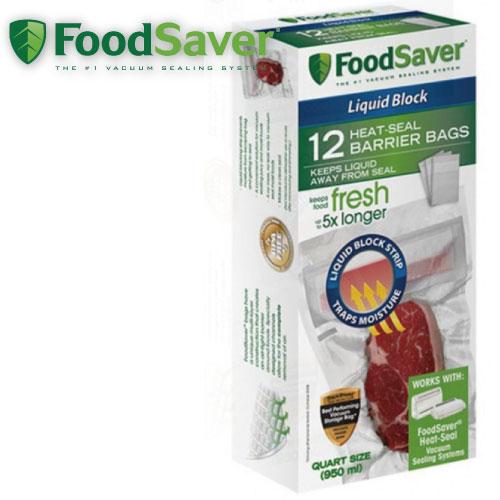 FOODSAVER真空汁液防滲袋12入(950ml)真空包裝機