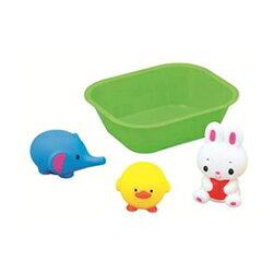 日本 樂雅 Toyroyal 洗澡玩具-軟膠洗澡組-小兔、小象、小鴨