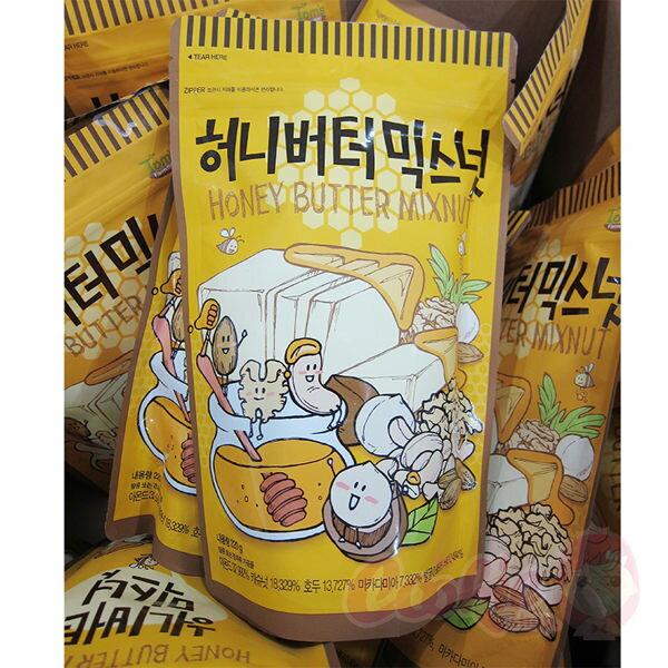 韓國TomsGilim蜂蜜奶油綜合堅果220g杏仁果堅果核桃腰果進口零食【庫奇小舖】