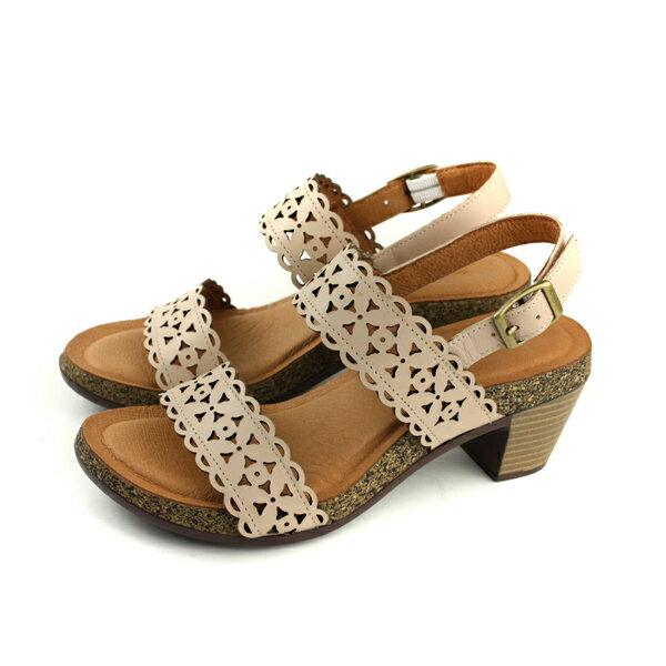 HUMANPEACE涼鞋跟鞋牛皮可可色女鞋no344