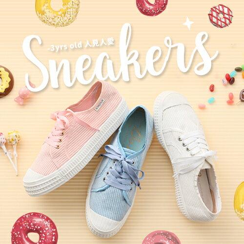 BONJOUR☆-3yrs old人見人愛厚底帆布鞋Sneakers| C.【ZB0295】7色 0