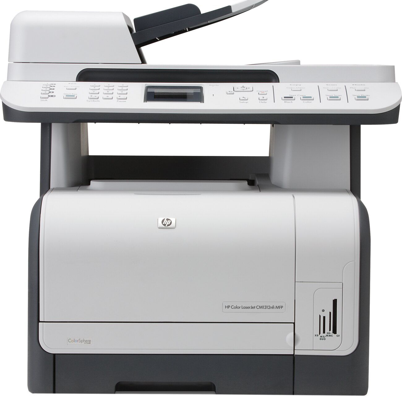 HP LaserJet CM1312NFI Multifunction Printer - 12 ppm Mono - 8 ppm Color - 600 x 600 dpi - Fax, Copier, Scanner, Printer 0