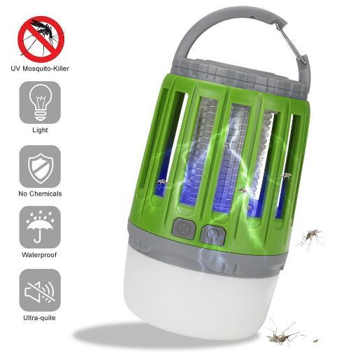 跨境新款多功能戶外野營燈驅蚊器露營防蚊照明USB充電手提帳篷燈zh